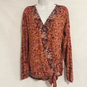 Maurices floral wrap top